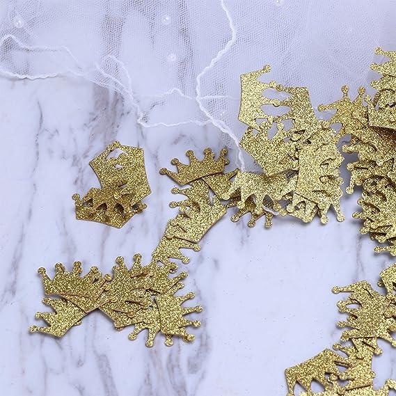 Amosfun 100 unids Confeti de Mesa de Doble Cara Brillo Confeti de la Corona para la Fiesta de cumplea/ños de la Boda Ducha de beb/é Decoraciones de Mesa favores