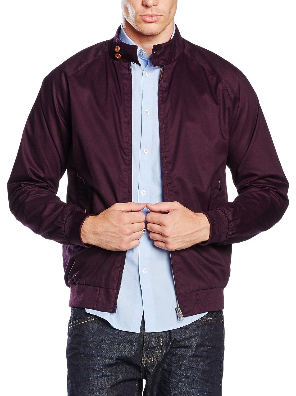 Mens Jacket Ben Sherman Harrington Coat Lightweight Outerwear MF10376 Grape Medium