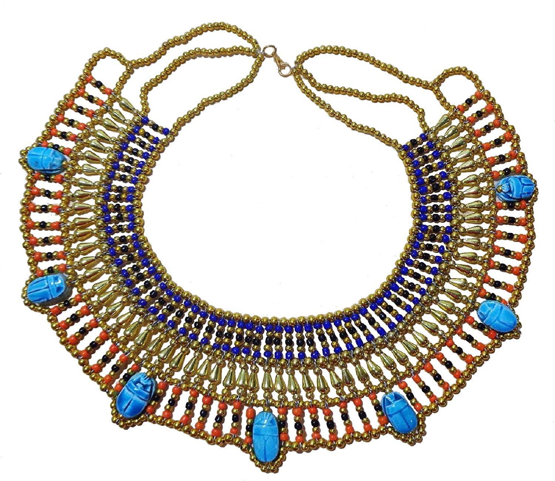 Amazon.com: Egyptian Cleopatra Nefertiti Scarab Necklace ...