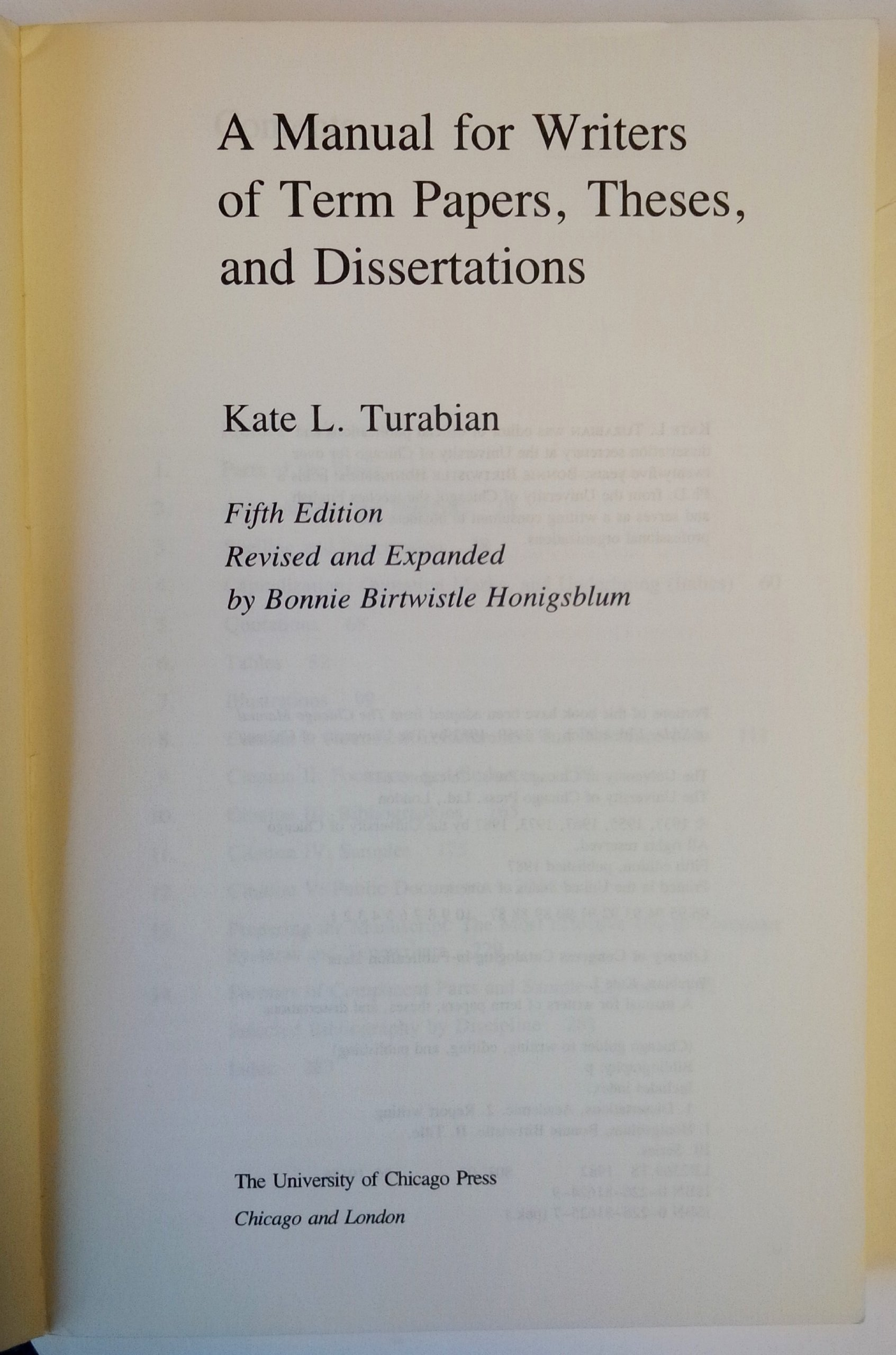 turabian title page sample