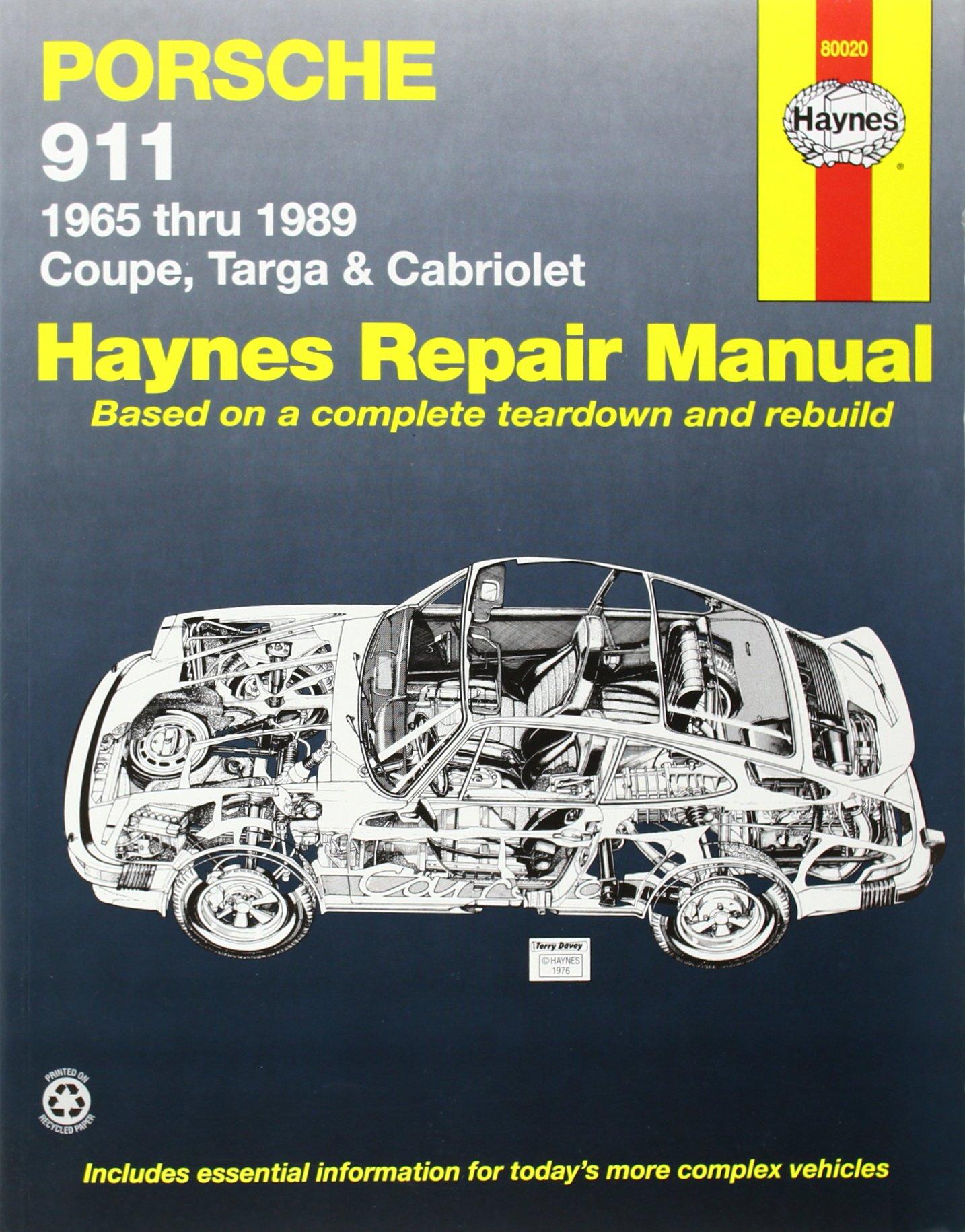 Porsche 911: Automotive Repair Manual, 1965 to 1989 - Coupe, Targa &  Cabriolet: Haynes: 0038345002649: Amazon.com: Books