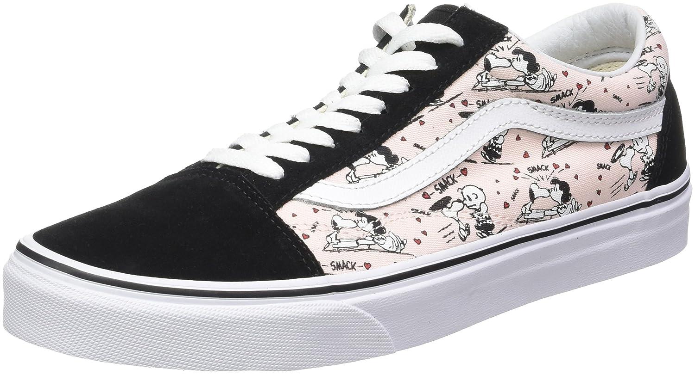 Vans Unisex Old Skool Classic Skate Shoes B01N6G51S7 5.5 M US Women / 4 M US Men|(Peanuts) Smack/Pearl