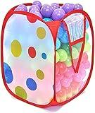 300 MiniBalls Non-Toxic Crush Proof Play Balls w/ Polka Dot Hamper: 10 Colors 5.5 cm