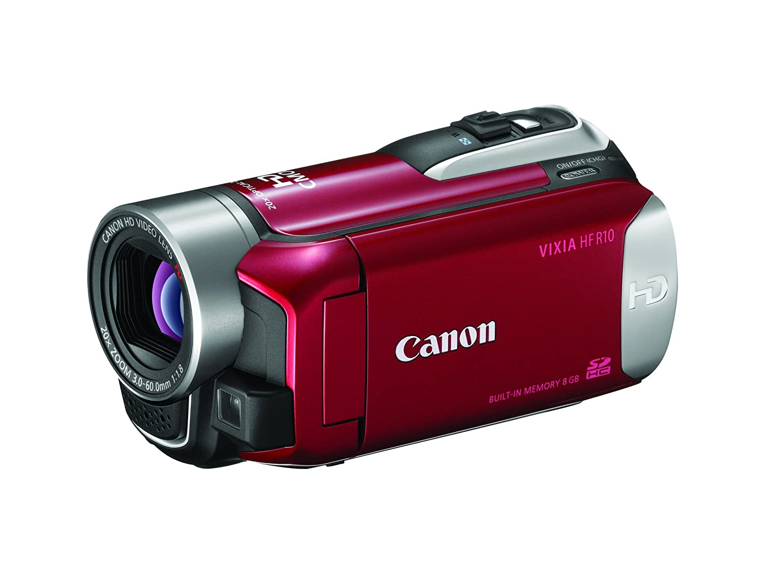 Amazon.com : Canon VIXIA HF R10 Full HD Camcorder with 8 GB Flash Memory  (Black) (Discontinued by Manufacturer) : Camera & Photo