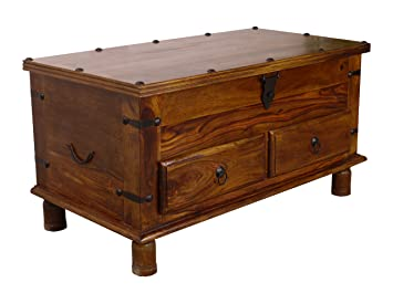Maharajah Indian Rosewood Thacket 2 Drawer Storage Coffee Table  sc 1 st  Amazon UK : storage coffee table uk  - Aquiesqueretaro.Com