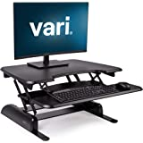 VariDesk Basic 30 - Standing Desk Riser with Adjustable Height Converter – No Assembly Required - Keyboard Tray & Stable Weig