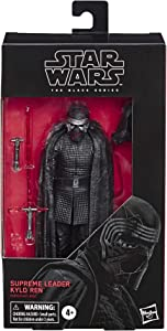 "Star Wars The Black Series Supreme Leader Kylo Ren Toy 6"" Scale The Rise of Skywalker Collectible Figure, Kids Ages 4 & Up"