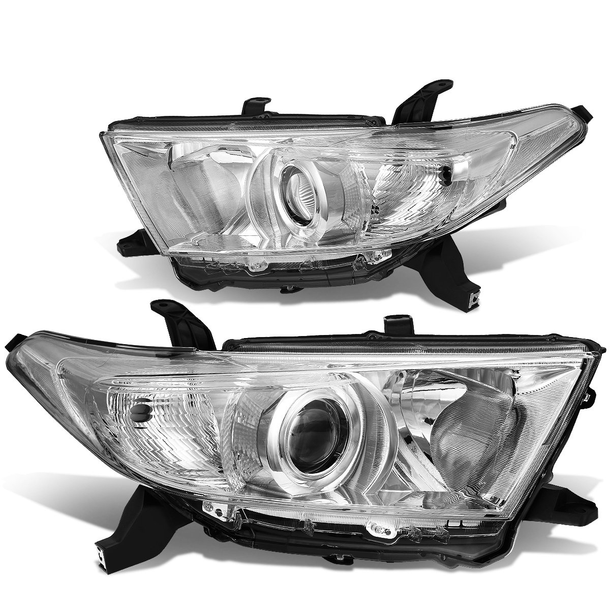 DNA Motoring HL-OH-THI11-CH-CL1 Projector Headlight Driver /& Passenger Side
