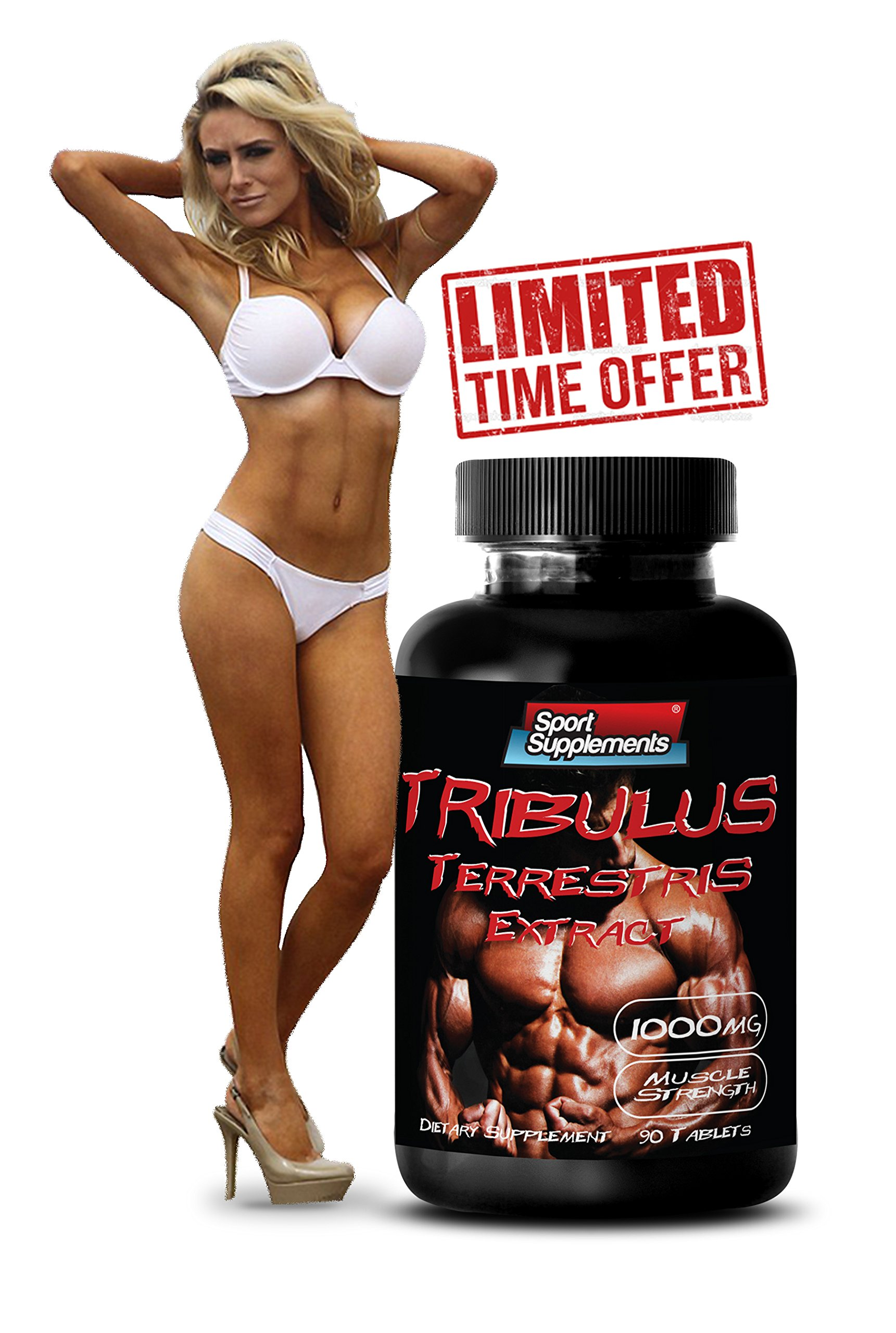 Sexual desire enhancer - TRIBULUS TERRESTRIS EXTRACT 1000mg (with Standardized 400mg Natural Saponins) - Tribulus protodioscin - 1 Bottle 90 Tablets