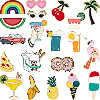 Hicarer 20 Pieces Cute Enamel Lapel Pin Set Cartoon Brooch Pin Badges Brooch Pins for Clothing Bags Jackets Accessory…
