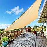 Kupton 6.56' x 10' Sun Shade Sail Rectangle Canopy Awning, 95% UV Block Sunshade Sails Water & Air Permeable, Perfect…