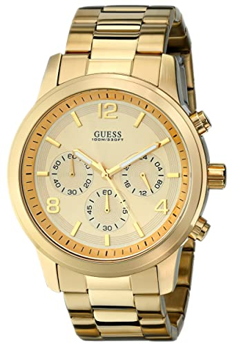 GUESS Men s U15061G2 Defining Style Gold-Tone Chronograph Watch