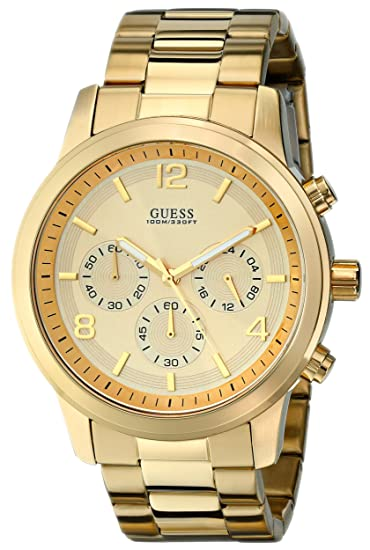 be5a78c0b0a Buy GUESS Men s U15061G2 Defining Style Gold-Tone Chronograph Watch Online  at Low Prices in India - Amazon.in