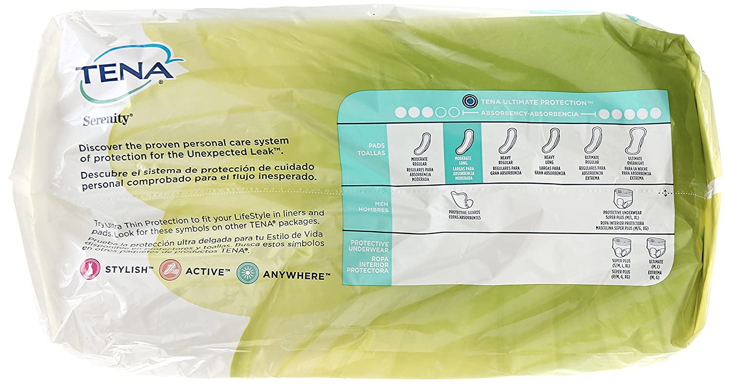 Tena Incontinence Pads for Women, Moderate, Long, 60 Count: Amazon.com: Grocery & Gourmet Food