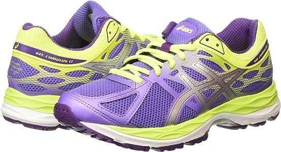 ASICS - Gel-Cumulus 17 GS, Zapatillas de Running Niñas, Morado (Iris/Silver/Flash Yellow 3593), 32.5 EU: Amazon.es: Zapatos y complementos