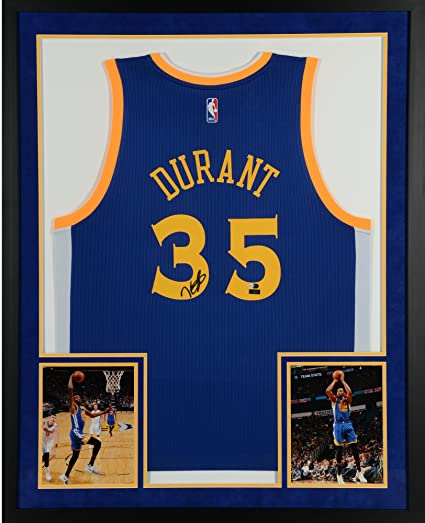 Kevin Durant Golden State Warriors SM Deluxe Framed Autographed Blue Adidas  Replica Jersey - Panini Authentic 611789247