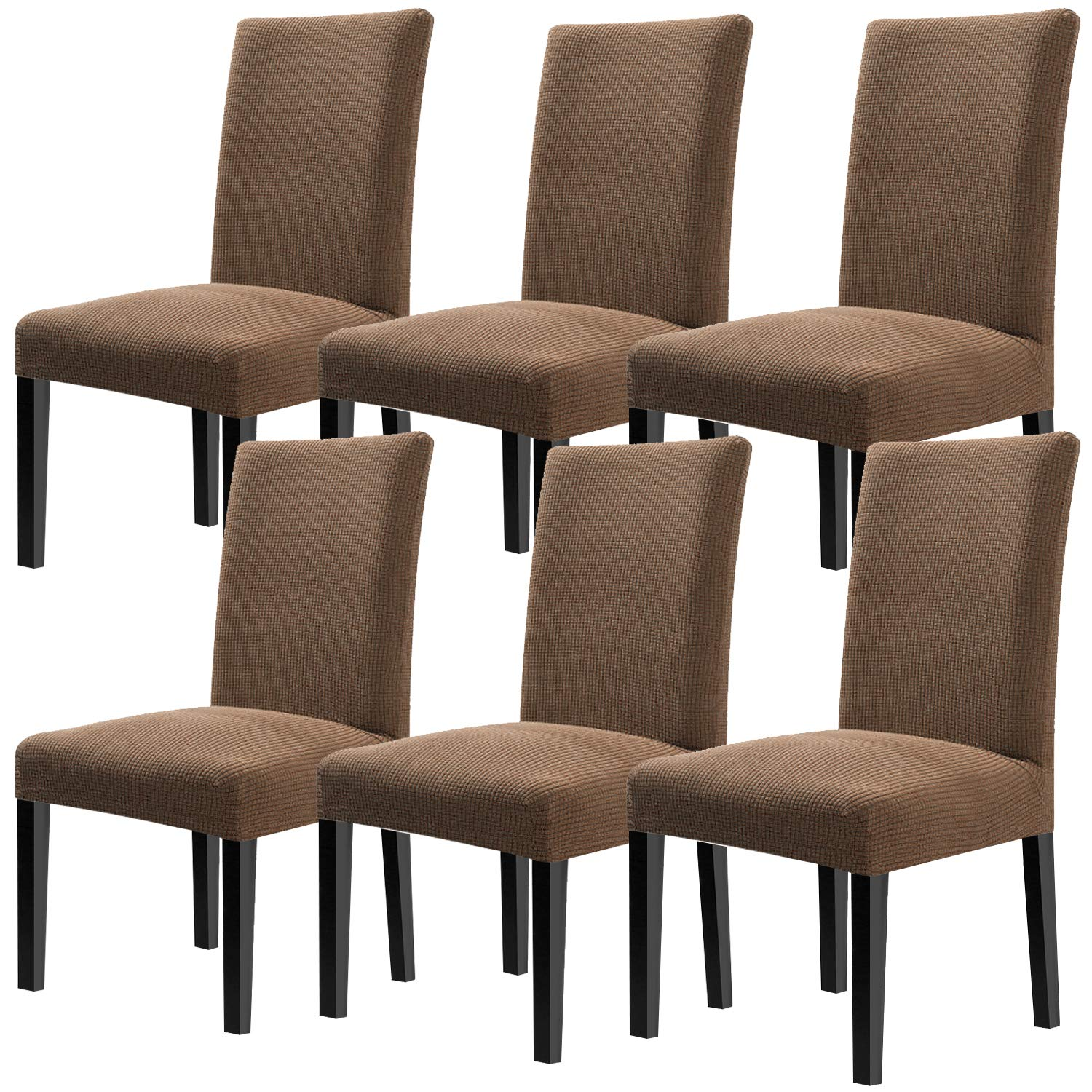 YISUN Modern Dining Chair Covers,Super Fit Stretch High Chair Cover Removable Washable Protector Cover for Hotel,Dining Room,Ceremony,Banquet Wedding Party Set of 6 Chair Protective Covers by YISUN