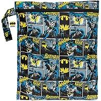 "Bumkins bolsa impermeable para mojado, lavable, reutilizable para viajes, playa, piscina, carriola, pañales, ropa de gimnasio sucia, trajes de baño mojados, DC Comics, Batman, 5"""