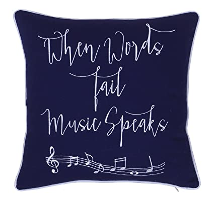 decorhouzz music lover embroidered pillow cover gift for music teacherguitar playerpiano player