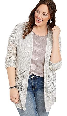 577aa82ecfb maurices Women s Plus Size Acrylic Pointelle Slub Cardigan at Amazon  Women s Clothing store