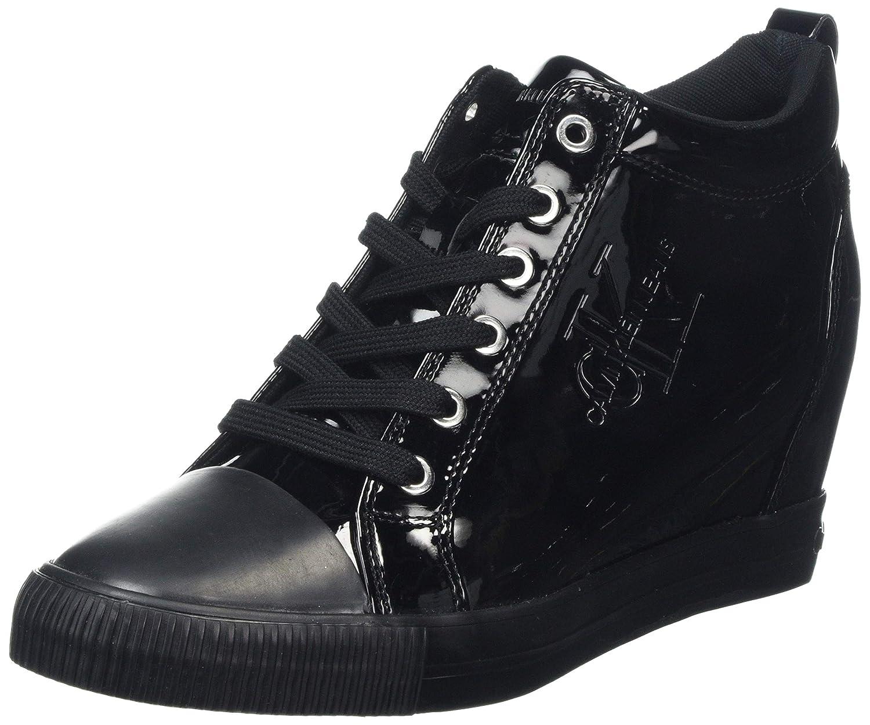 TALLA 40 EU. Calvin Klein Ritzy Patent, Zapatillas Altas para Mujer
