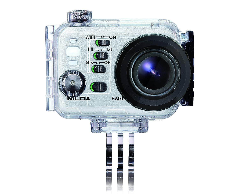 Nilox 13NXAKCSEV002 Camera mount accesorio para cámara de deportes de acción - accesorios para cámara de deportes de acción (Camera mount, Universal, Transparente, De plástico, Resistente al polvo, Resistente a rayones, Resistente al agua, F-60 EVO, EVO M