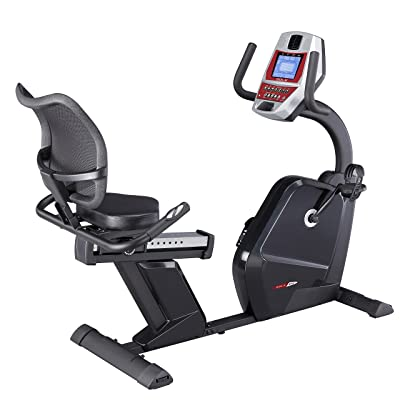 SOLE Fitness R52 Recumbent Exercise Bike | Programmable Belt Drive Magnetic Resistance Adjustable Stationary Indoor Cycle with LCD Monitor, Heavy Duty Cardio Workout Fitness Equipment for Home Gym