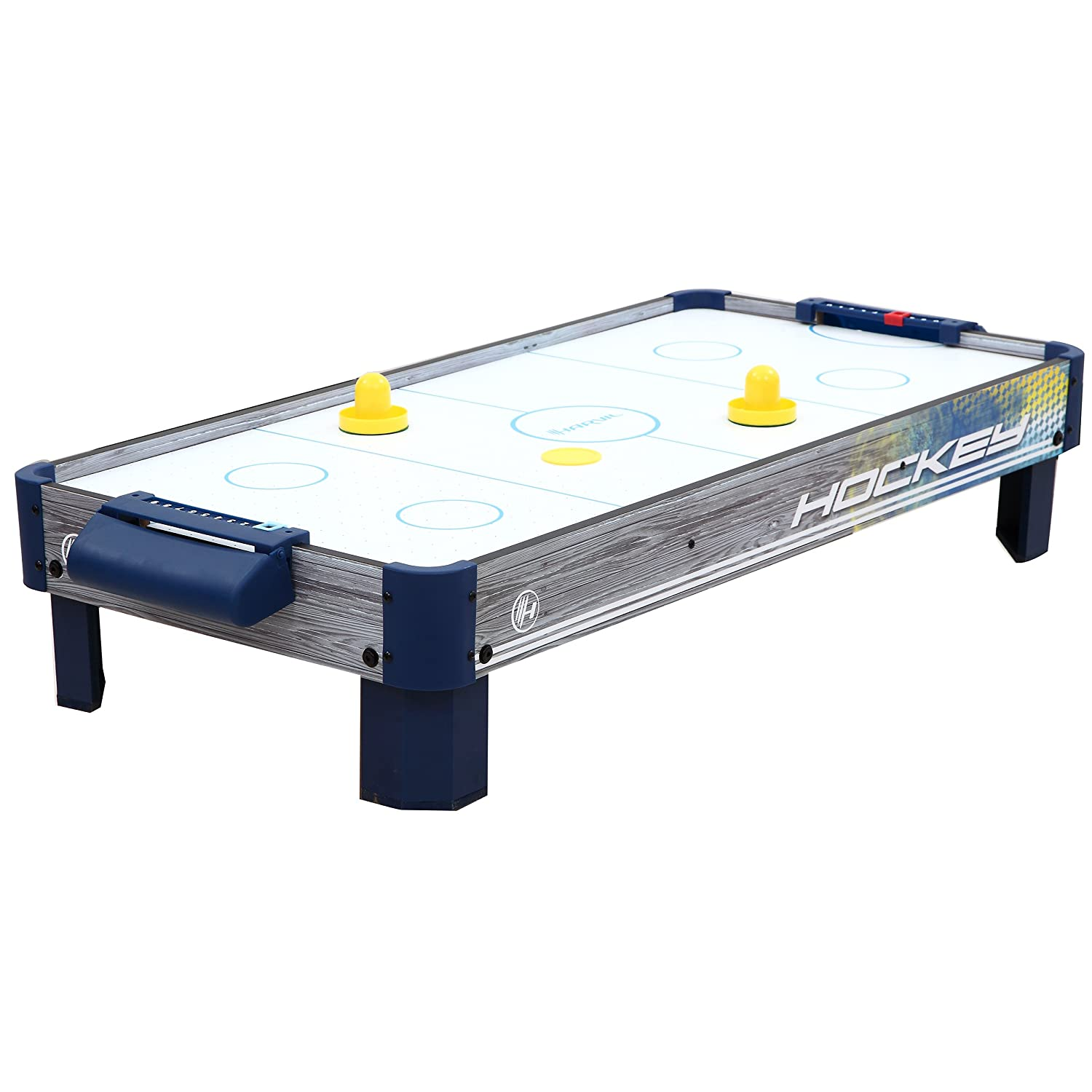 Harvil 40-Inch Tabletop Air Hockey Table with Powerful Electronic Blower, 2 Paddles, and 2 Pucks.