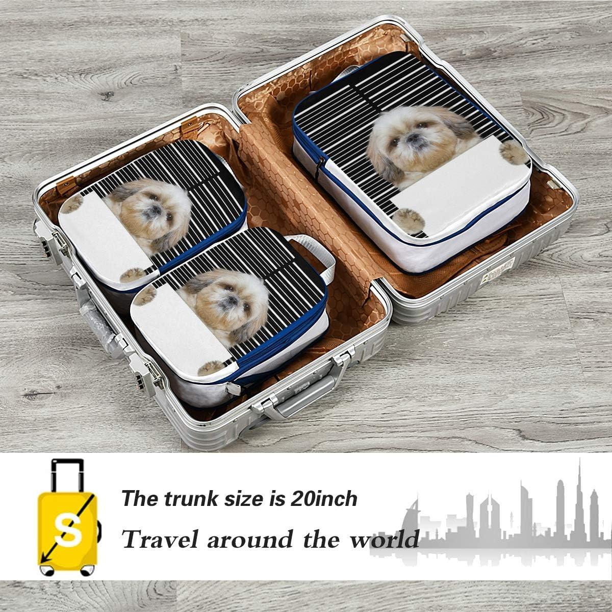 Criminal Dog 3 Set Packing Cubes,2 Various Sizes Travel Luggage Packing Organizers n