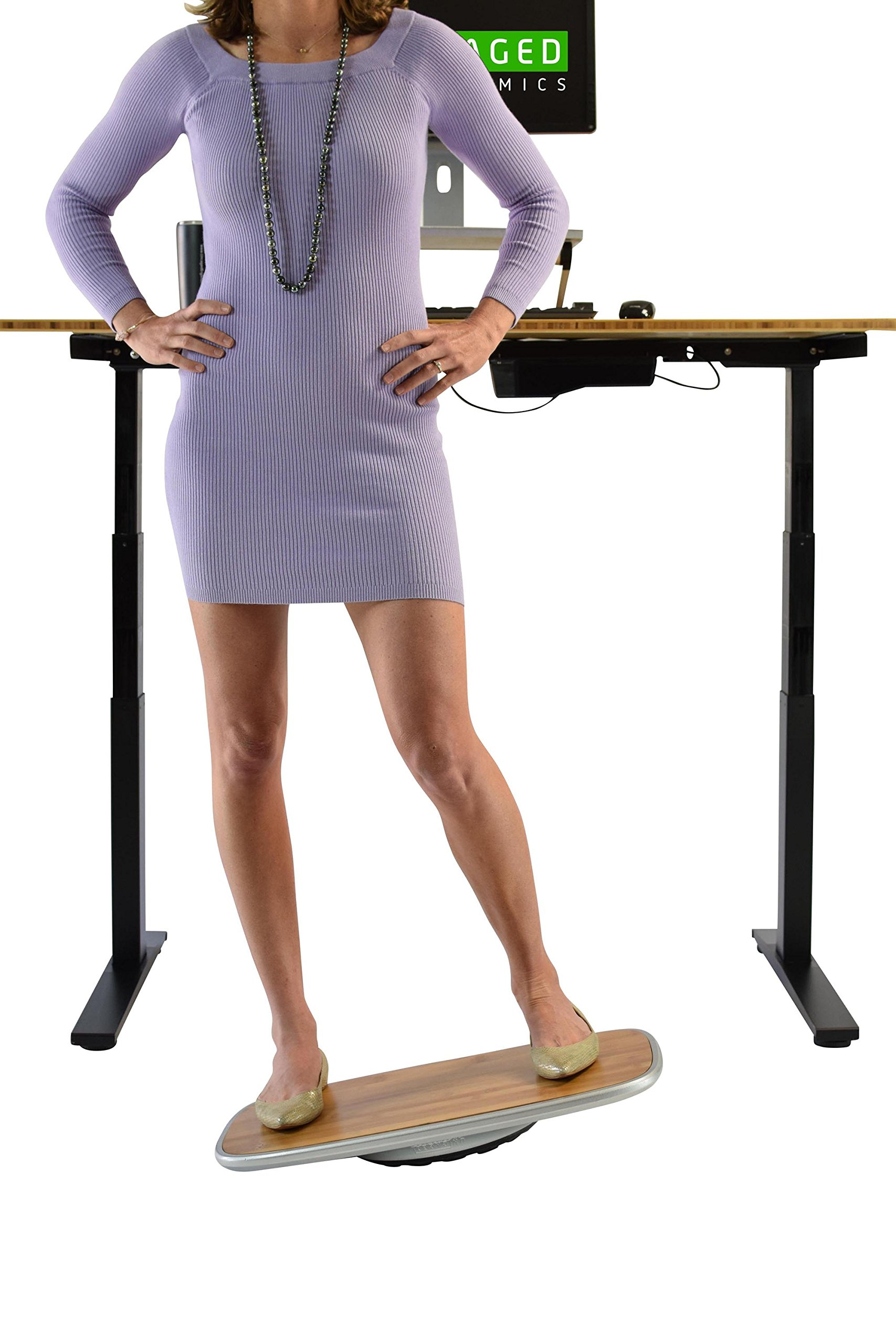 BASE Balance & Stability Board. Active Standing Desk Wobble Platform Trainer for Home, Office, Rehab, Fitness. Full Range of Motion. Patented by Uncaged Ergonomics (Image #3)