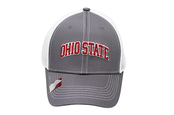 8ae21a90960 Image Unavailable. Image not available for. Color  NCAA Collegiate Headwear  Men s Hat Ohio State Buckeyes Embroidered Grey Ghost Mesh ...