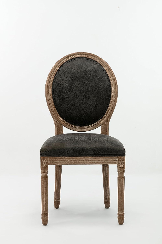 Boraam Joy Dining Chair with Nailheads, Set of 2, Brush Finish