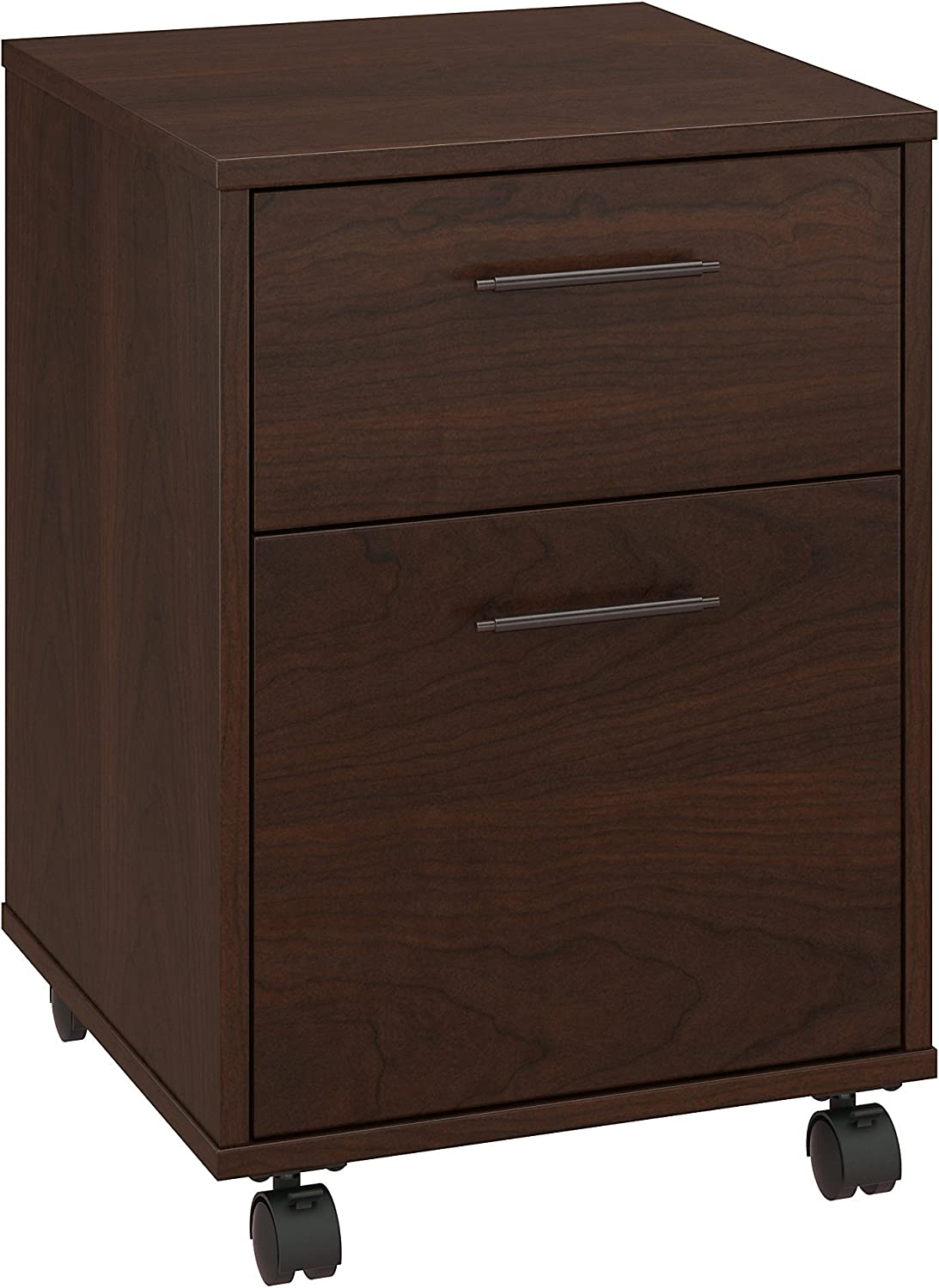 Bush Furniture Key West 2 Drawer Mobile File Cabinet in Bing Cherry
