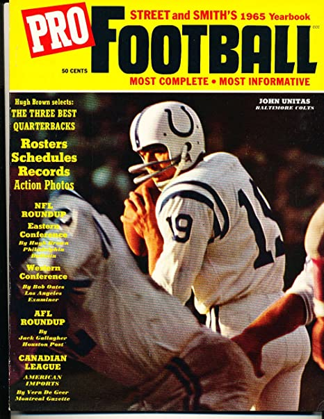 e45738a3b Amazon.com  1965 Street and Smith Pro Football Yearbook Guide Johnny ...