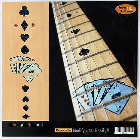 Pegatinas de incrustaciones para guitarra, tarjeta de juego, BP ...