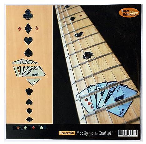 Pegatinas de incrustaciones para guitarra, tarjeta de juego, BP, diseño de diapasón: Amazon.es: Instrumentos musicales