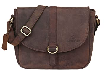 d843ee2b0b86 Leaderachi Women s Muskat Hunter Leather Messenger Bag - Sicily ...