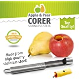 Delightly Apple Pear Corer Stainless Steel Durable Dishwasher Safe