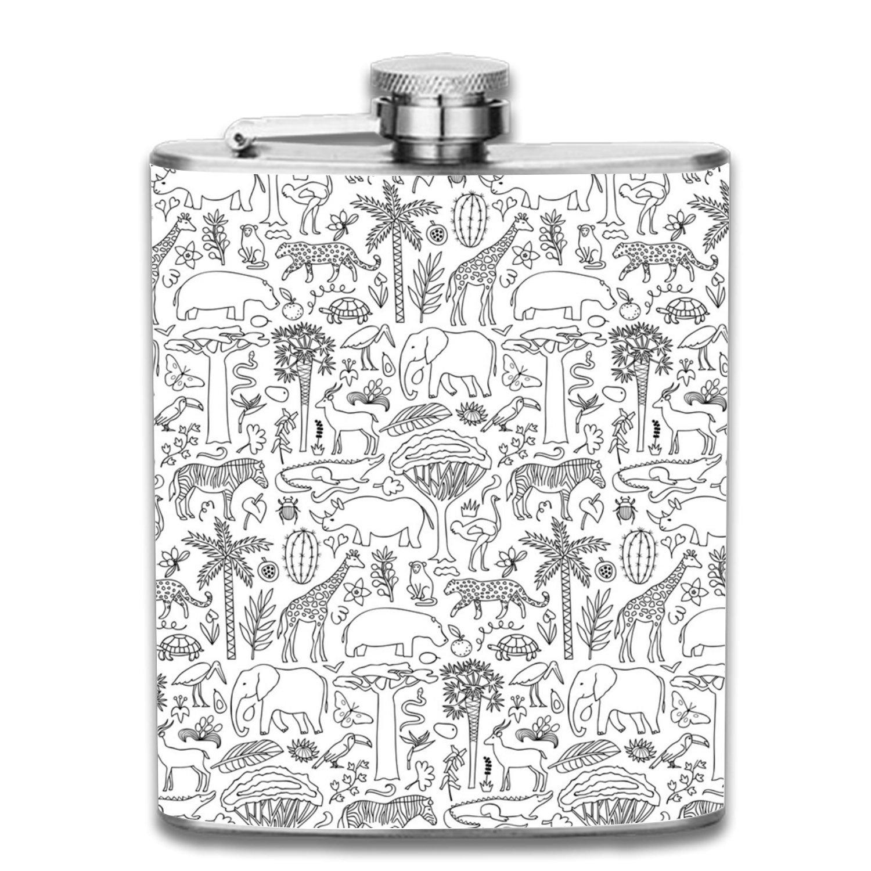 【在庫限り】 グラフィティ抽象LiquorヒップフラスコステンレススチールShot Flasks Leak Proofクールギフトfor size Flasks Men 7oz B07F5LRYL3 one size Hand drawn Africa6 B07F5LRYL3, ホテルライクインテリア:004bf518 --- a0267596.xsph.ru