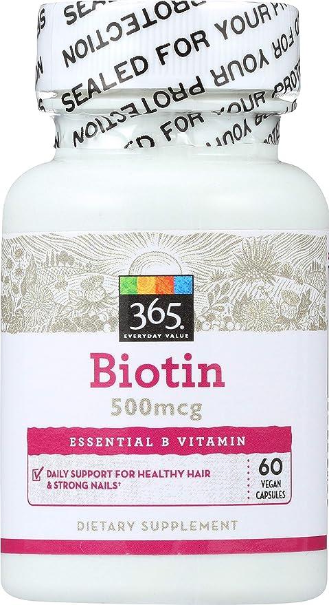 365 Everyday Value, Biotin 500mcg, 60 ct