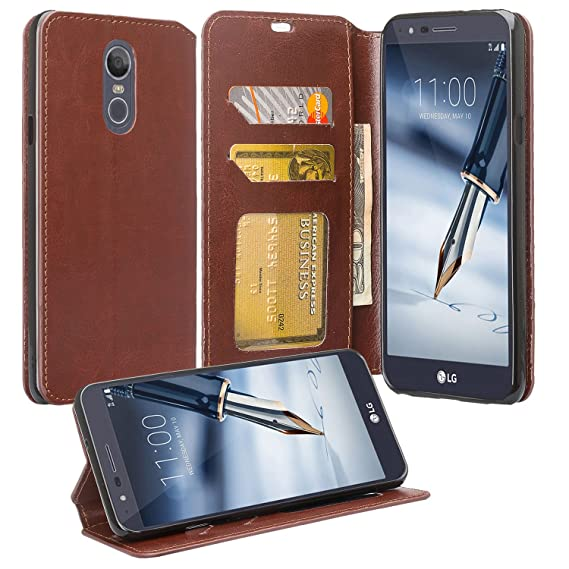 timeless design da229 ff729 LG Stylo 4 Case, LG Stylo 4 Case Wallet [Kickstand] Pu Leather Wallet Case  Cover with ID&Credit Card Slot Phone Case For LG Stylo 4/Stylus 4 - Brown