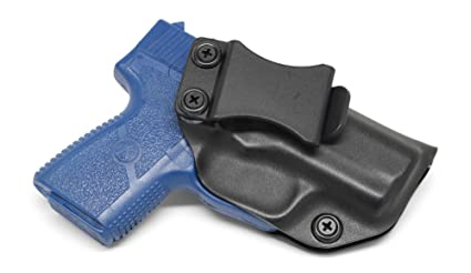 Concealment Express IWB KYDEX Holster: fits Kahr PM9 (CF BLK, RH) - Inside  Waistband Concealed Carry - Adj  Cant/Retention - US Made