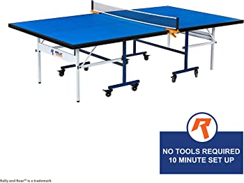 Indoor Table Tennis Table with Net Set (Tournament Size)