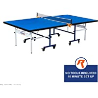 Indoor 15mm Table Tennis, Ping Pong Table with Net Set by Rally & Roar – Quick Assembly, Playback Mode, Space Saving Storage, Tournament Size, 30mm Steel Frame – Family and Friend Game Room Fun