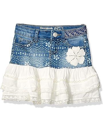 3f38b9ed9 Desigual Girl Denim Skirt Short (Fal_calella) Falda para Niñas