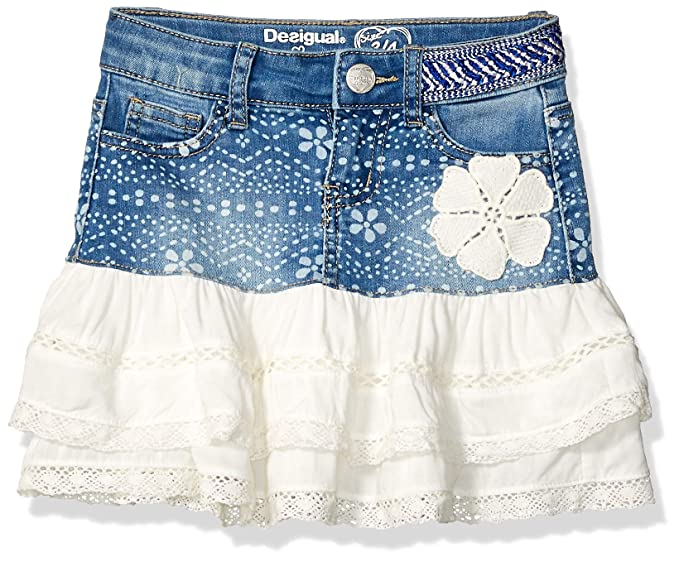 Desigual Girl Denim Skirt Short (Fal_calella), Falda Niñas, Azul (Denim Ligth