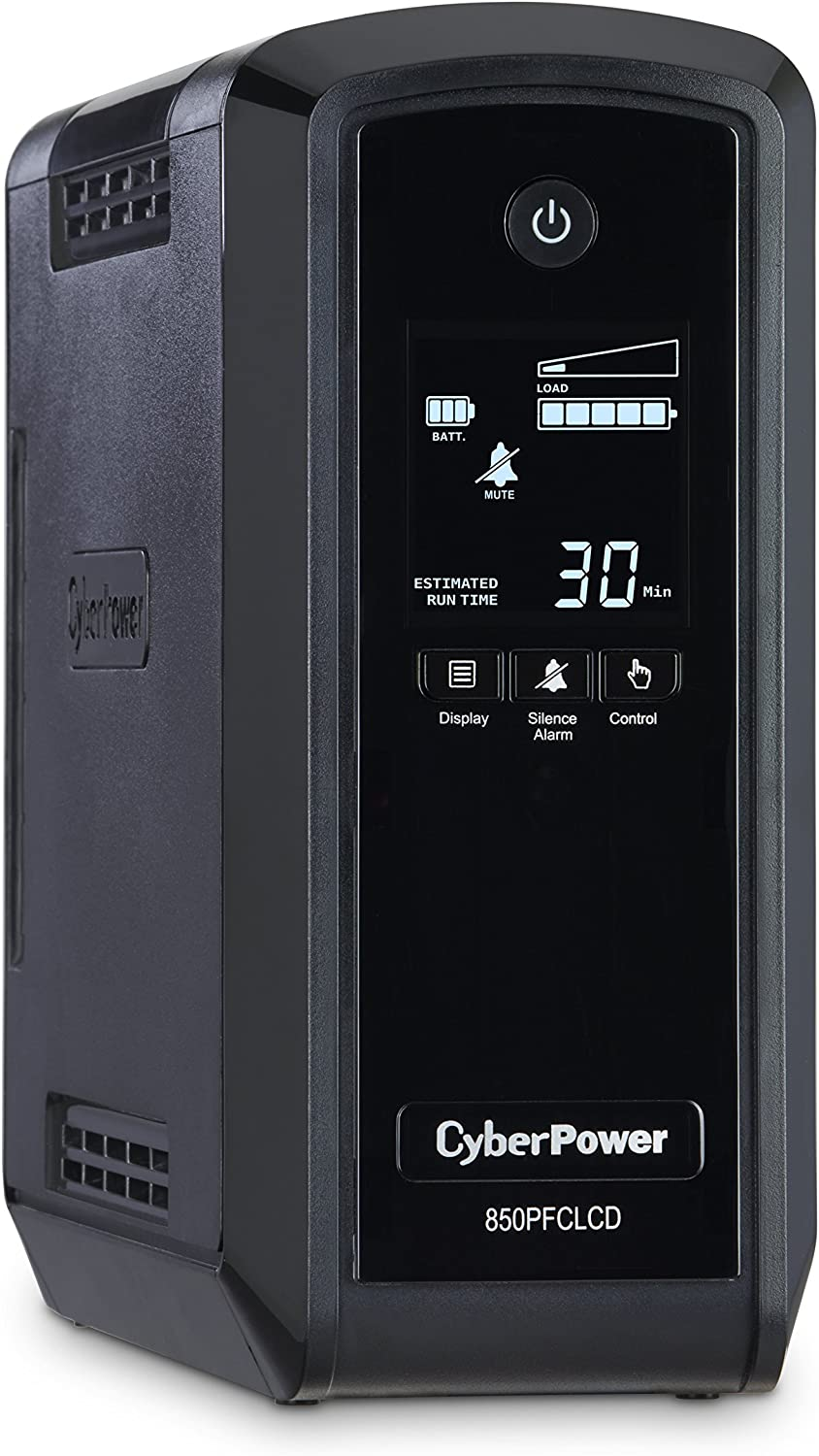 CyberPower CP850PFCLCD PFC Sinewave UPS System, 850VA/510W, 10 Outlets, AVR, Mini-Tower
