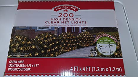 Amazon com: Holiday Time 200 High Density Clear Net Lights, Green
