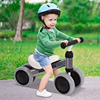 Norflex Kids Balance Bike Childrens Ride On Toy Baby Push Bicycle - Silver
