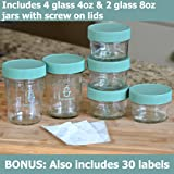 Glass Baby Food Storage Containers | 4 Glass 4oz